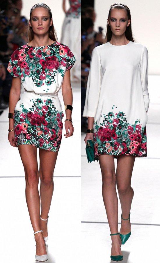 Модные летние платья 2014 с цветочками