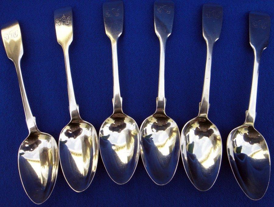 Антикварные серебряные ложки