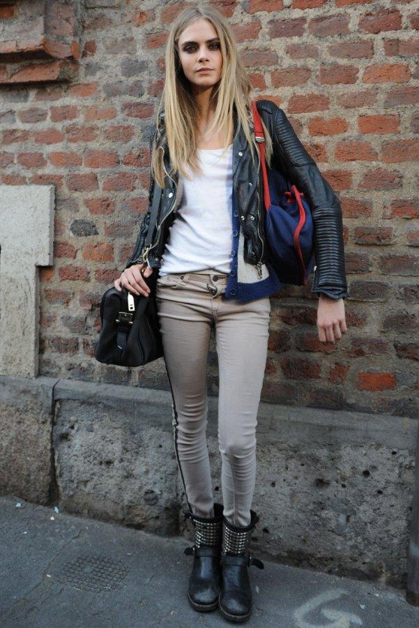 Кара Делевинь – уличный стиль