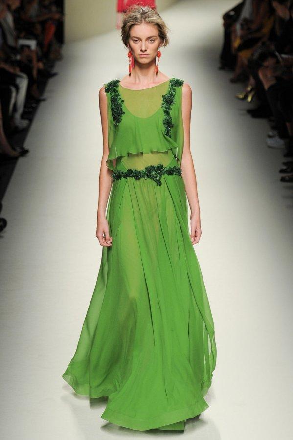 Зеленое платье 2014
