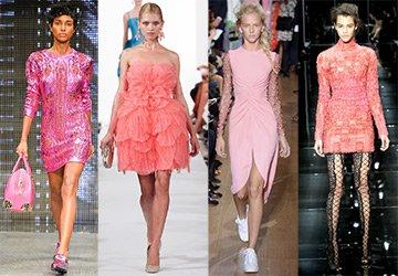 Розовые, коралловые и фиолетовые платья