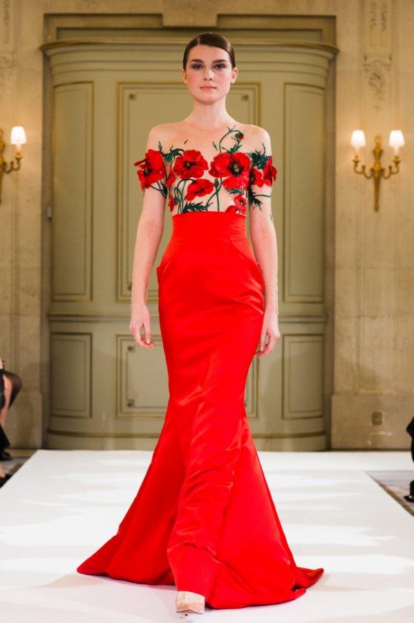 Красное платье из коллекции Yanina
