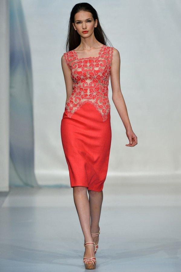 Красное платье из коллекции Luisa Beccaria