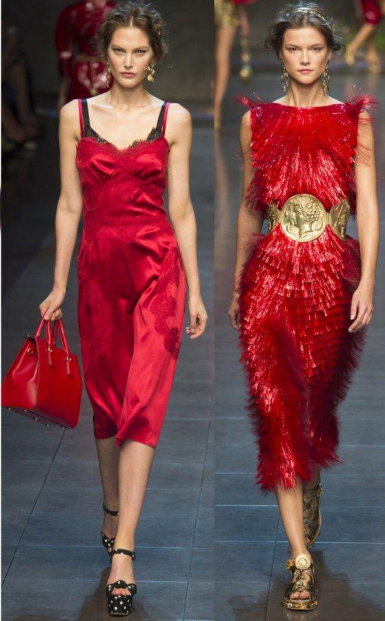 Красивые красные платья 2014