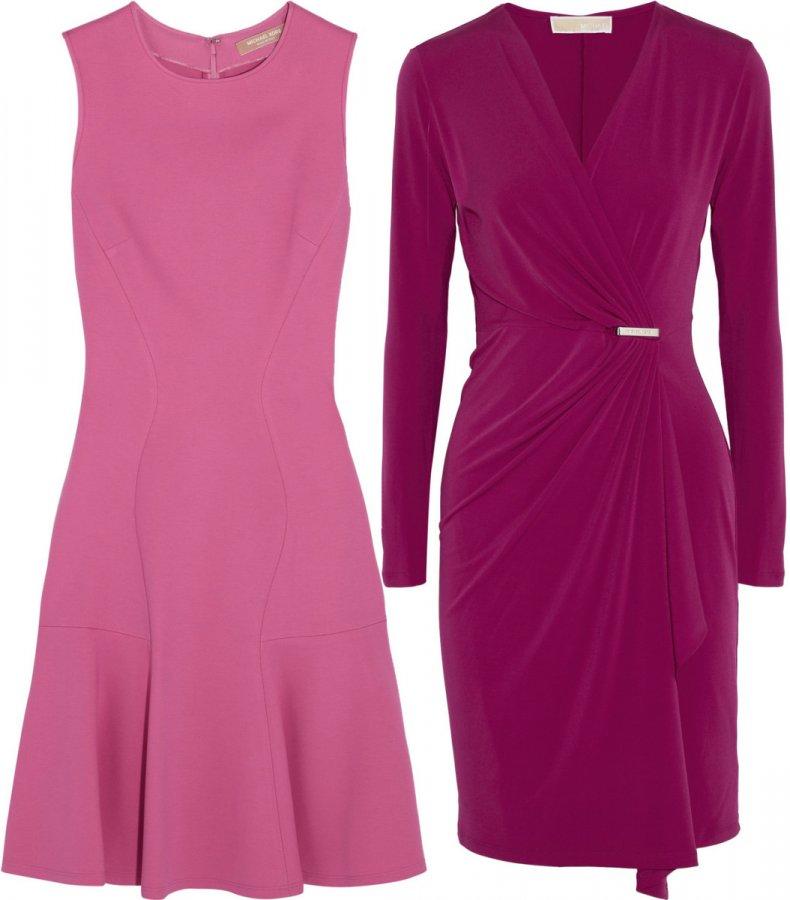 Розовое и фиолетовое платье Michael Kors