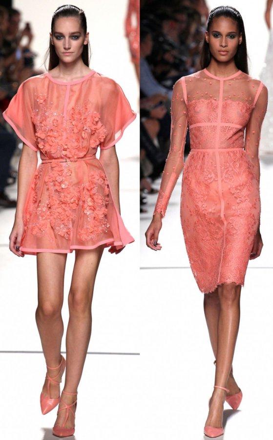Коралловые платья Elie Saab