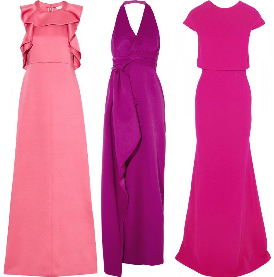 Розовые и фиолетовые платья 2014