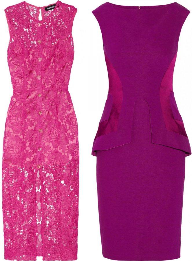 Платье фуксия и фиолетовое