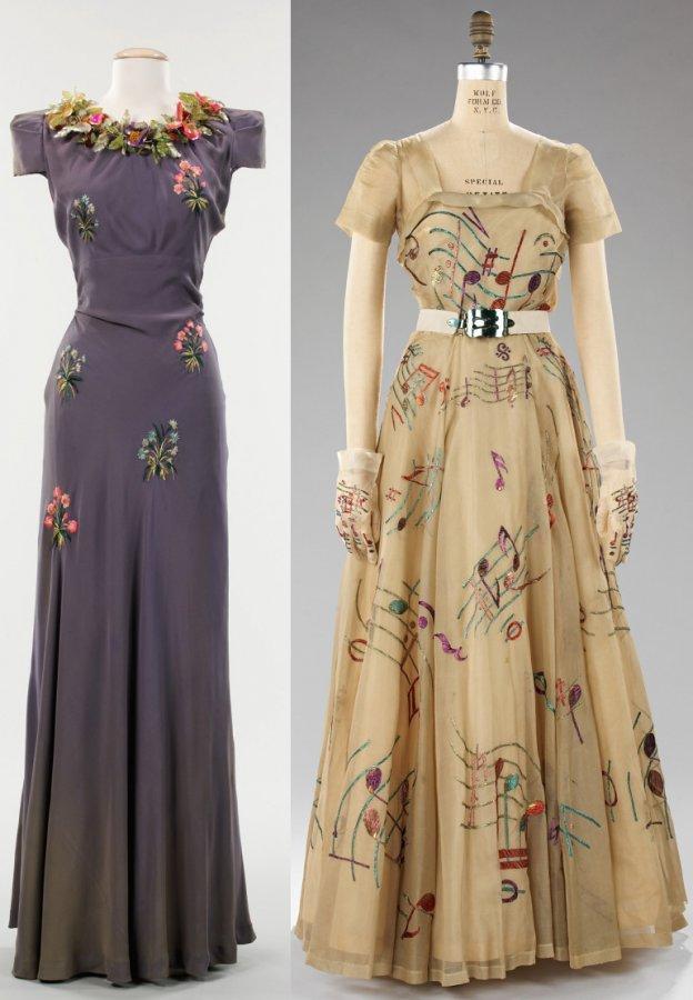 платья 30х годов от Elsa-Schiaparelli