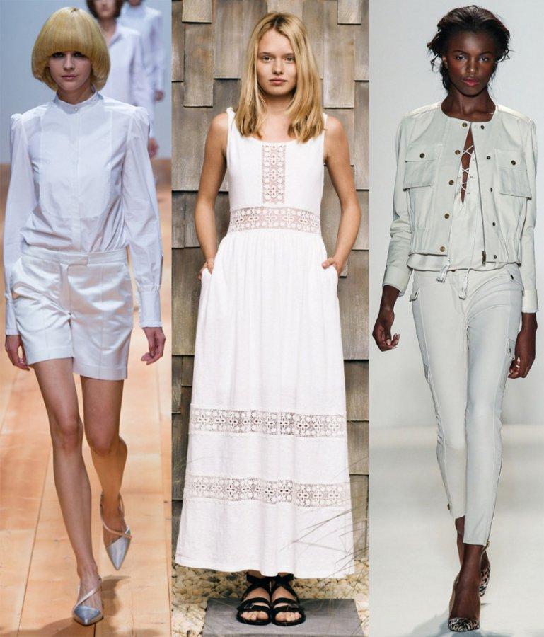 Белый цвет в коллекциях 2014