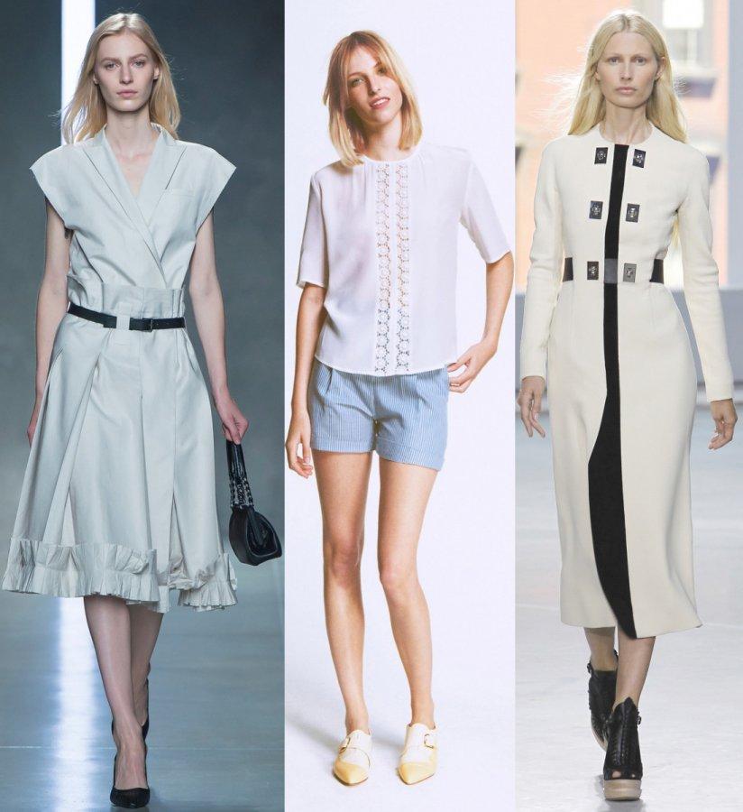 Модная белая одежда 2014