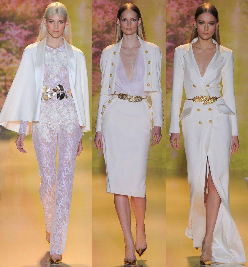 Одежда белого цвета и модные образы 2014