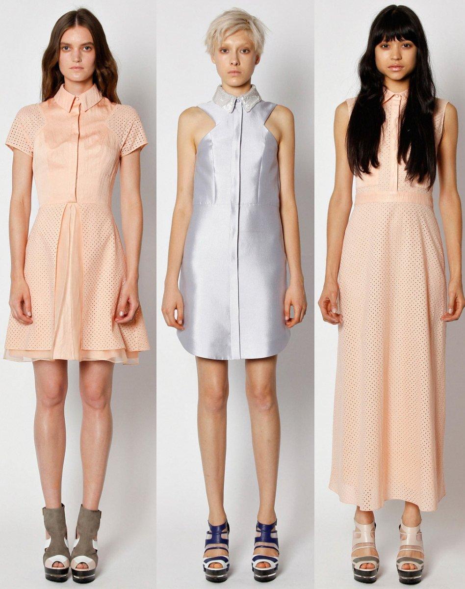 Модные платья с воротничком