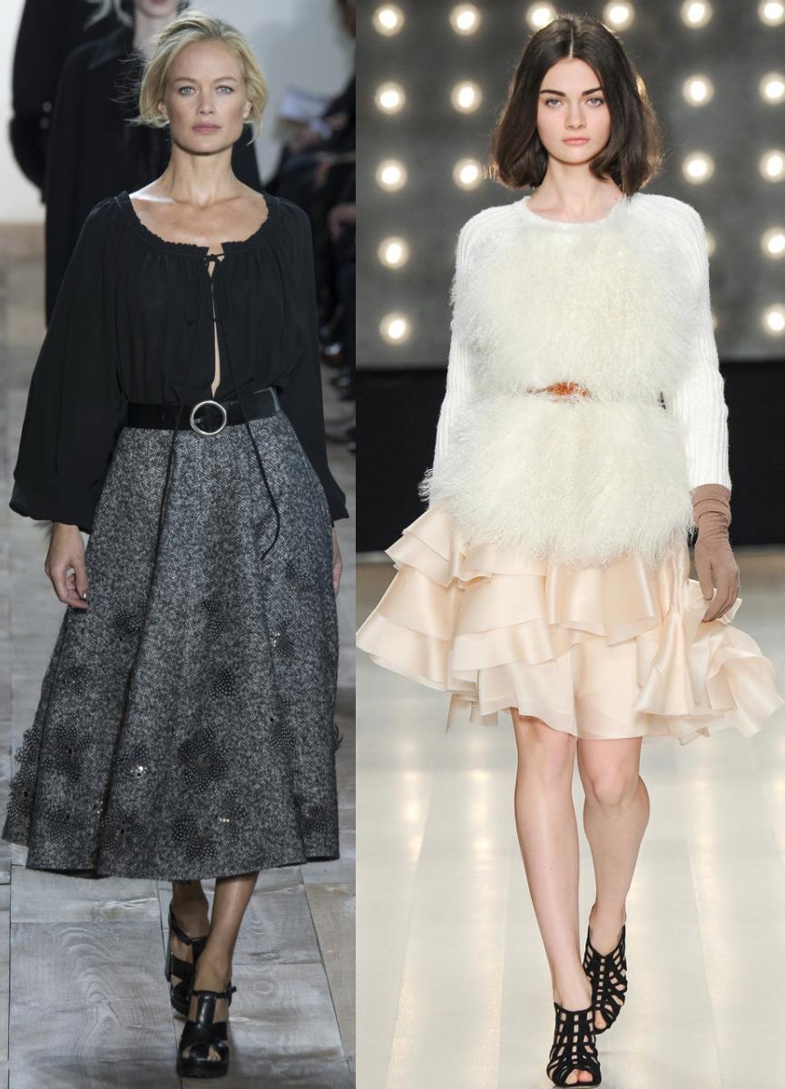 Длинные юбки на зиму модные