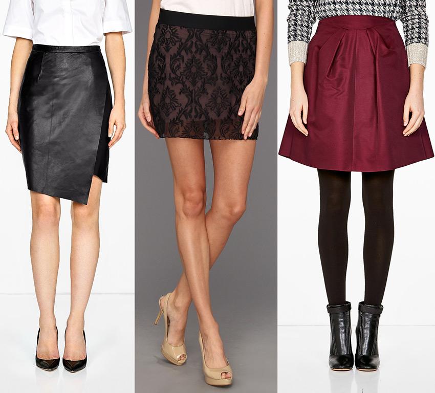 Девушки в юбках разной длины