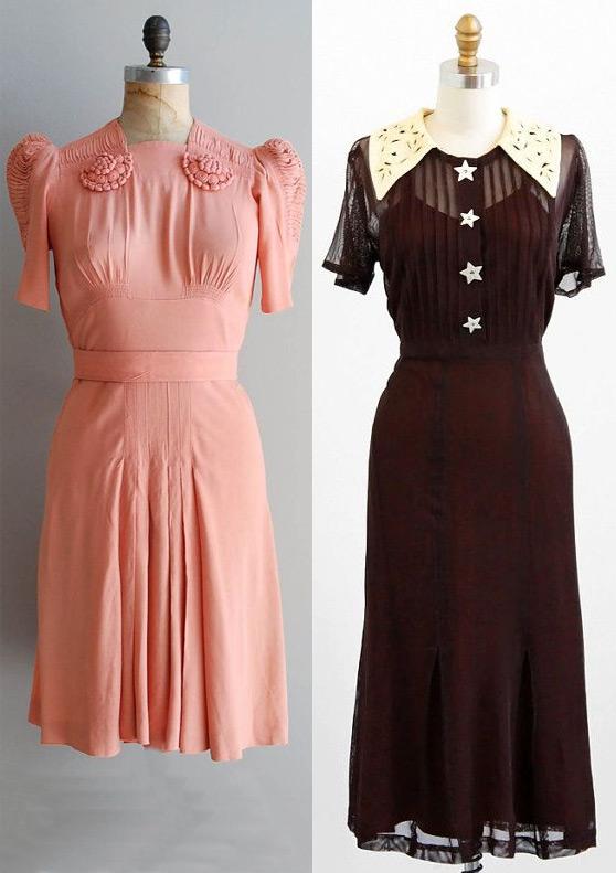 Платья 30х годов