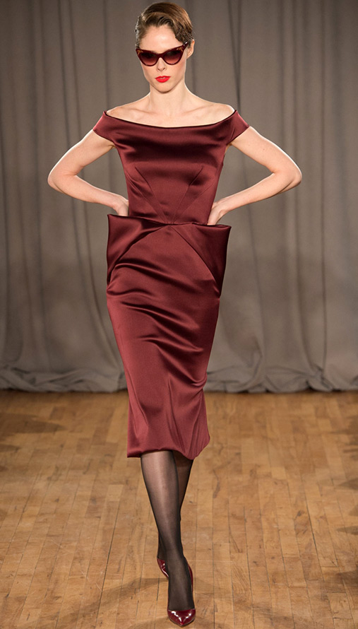 Платье с декольте от Zac Posen