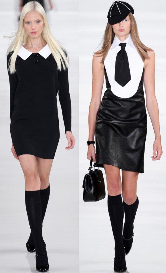 Модные платья с воротничком 2014