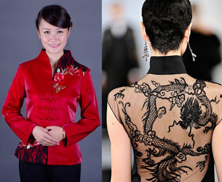 Китайский стиль шинуазри в одежде