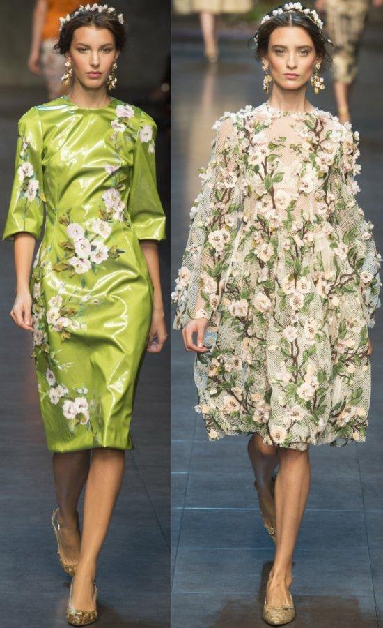 Платья в цветочек Dolce & Gabbana