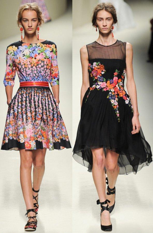 Платья в цветочек 2014