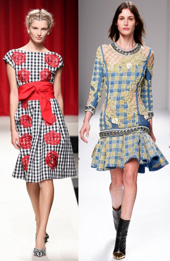 платья Moschino и Balmain 2014