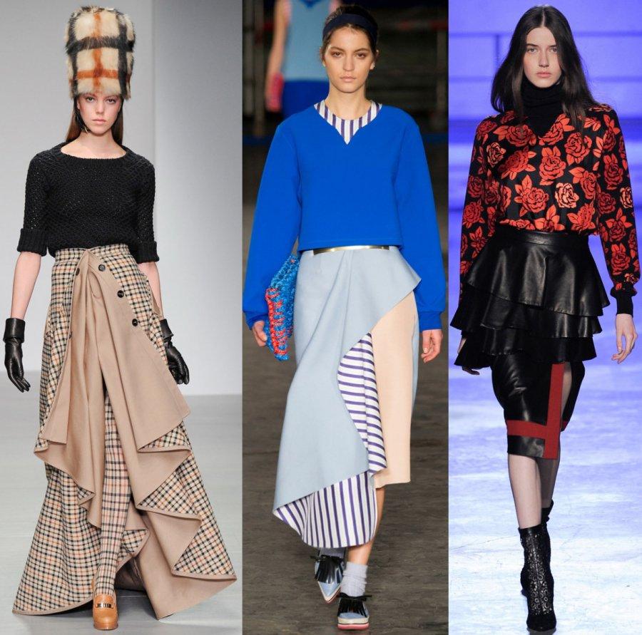 Модные юбки осень зима