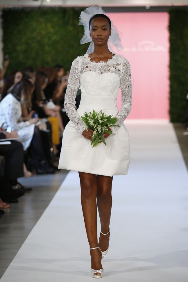 Короткое свадебное платье 2015