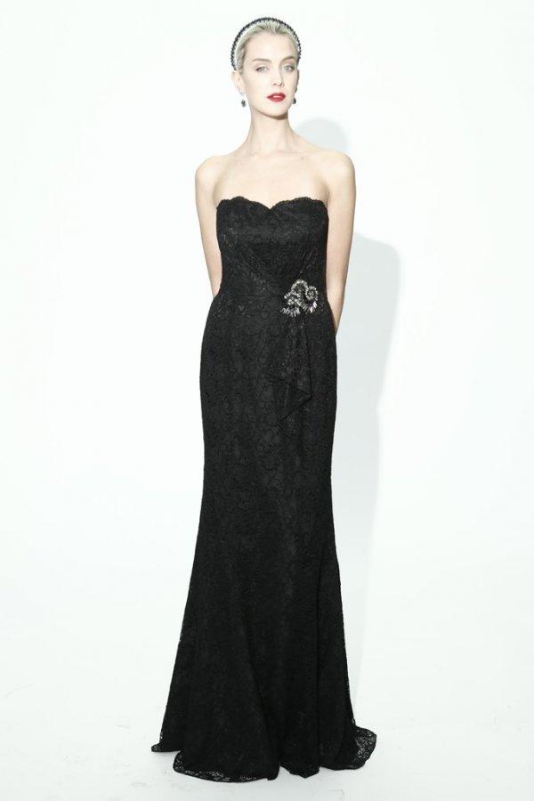 Красивое черное платье 2014
