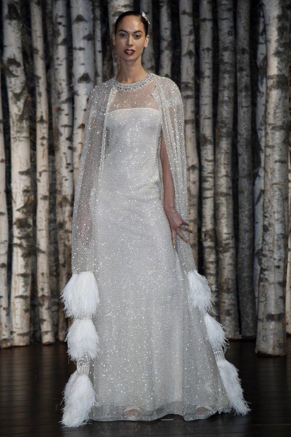 Блестящее свадебное платье 2015