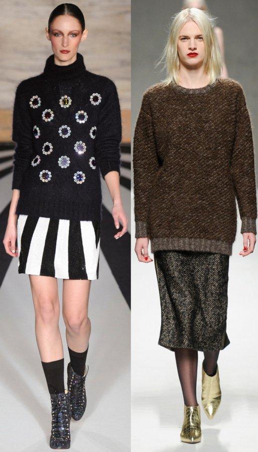 Модные женские свитера осень-зима 2014-2015, фото