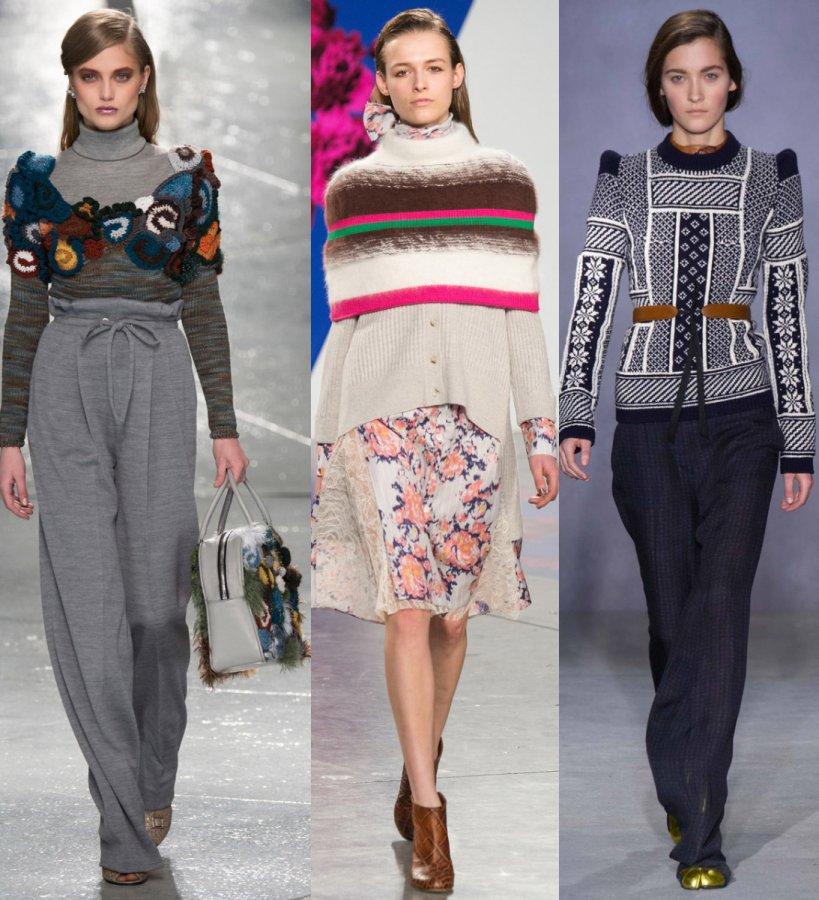 Модные женские свитера осень-зима 2014-2015