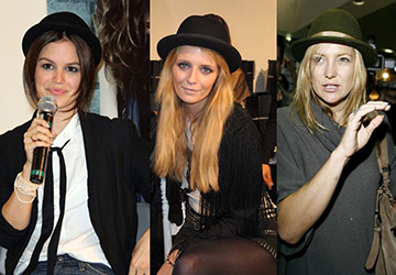 Мужские шляпы в женском гардеробе