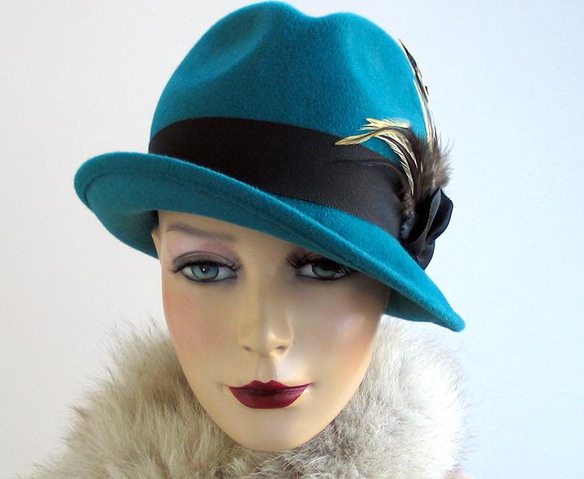 Женская шляпа трилби