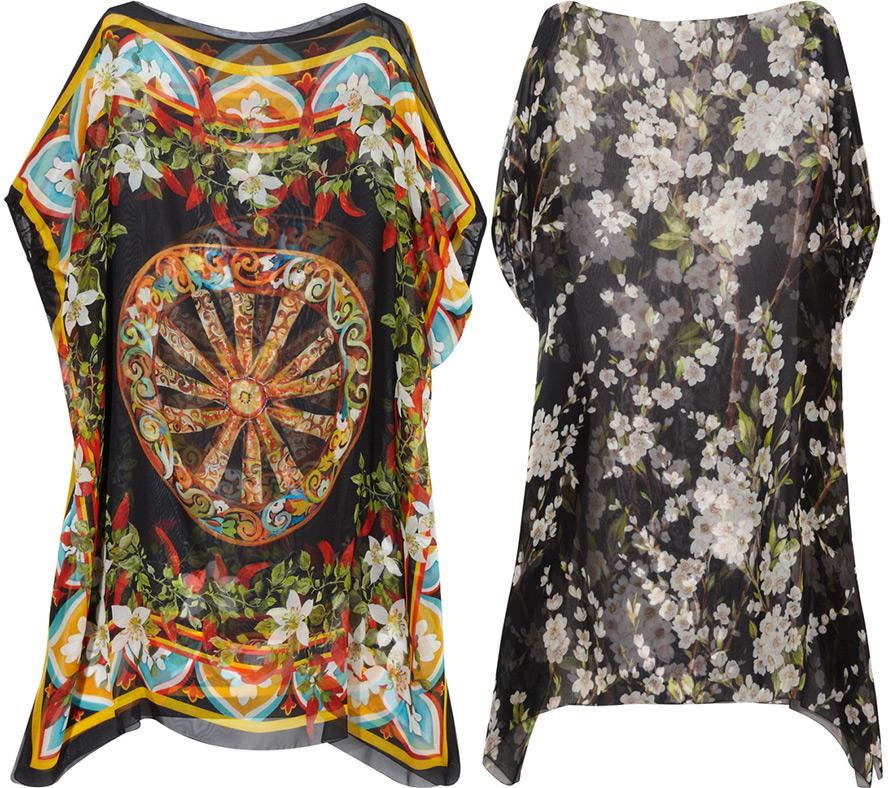 Пляжные туники Dolce & Gabbana