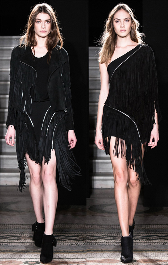 Платья с бахромой 2014-15