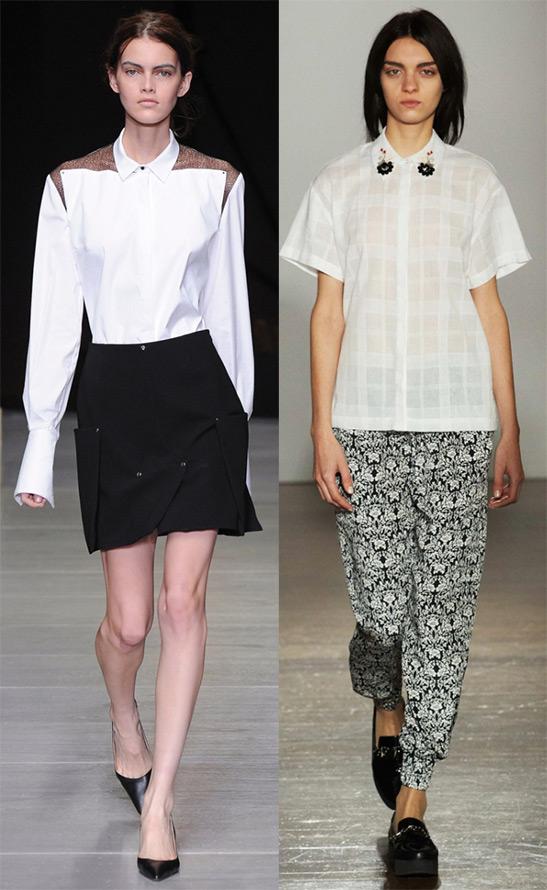 Женские белые рубашки 2014-2015, фото