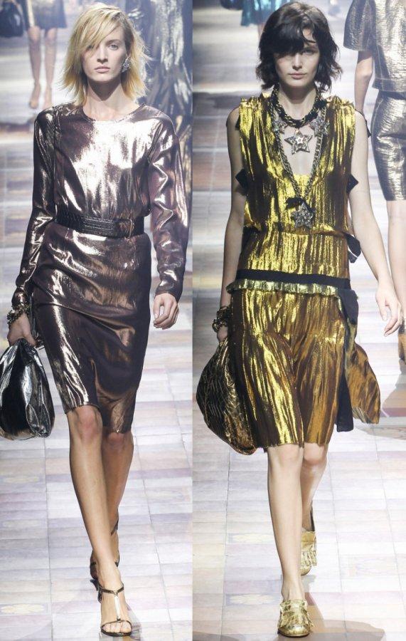 Блестящие платья Lanvin