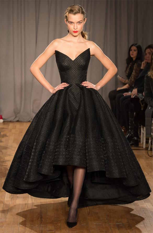 Черное вечернее платье Zac Posen