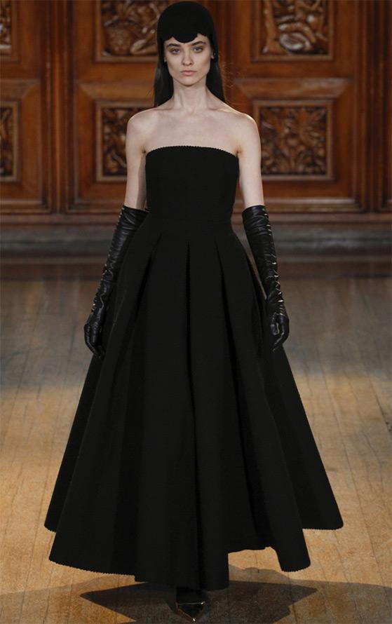 Черное вечернее платье Emilia Wickstead