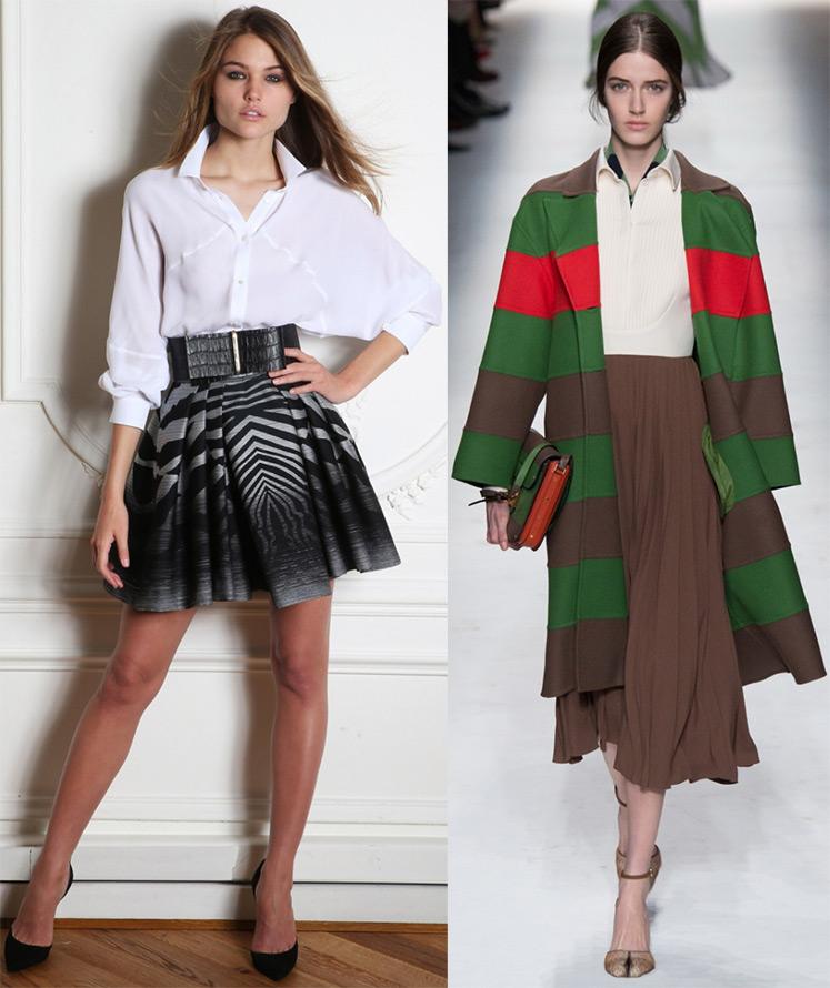 Плиссированные юбки 2014-2015