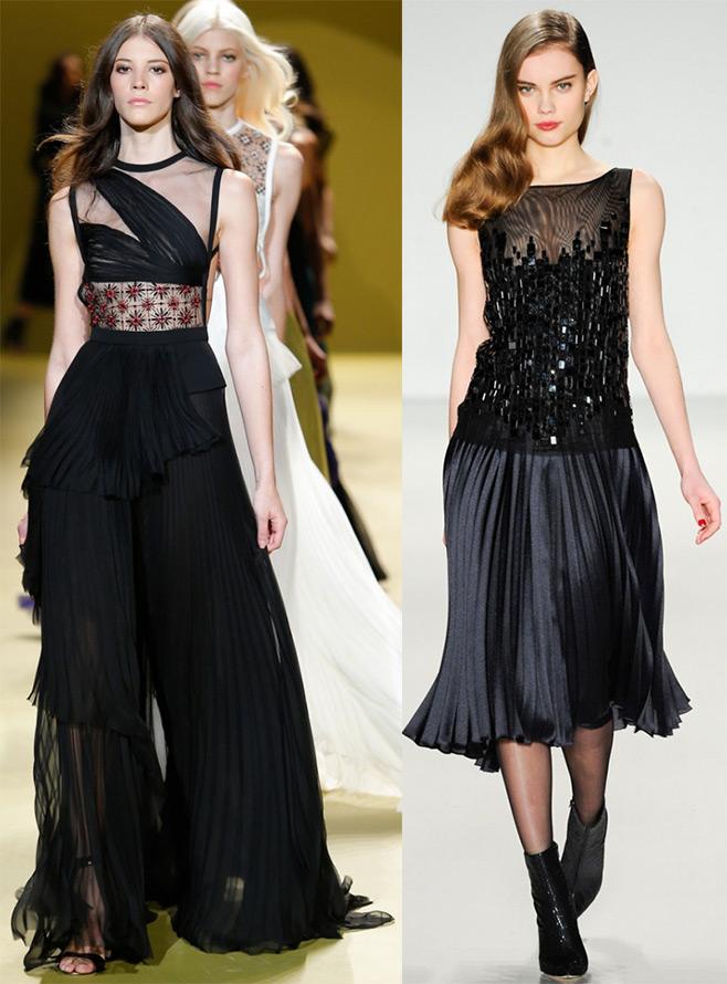Плиссированные платья и юбки 2014-2015