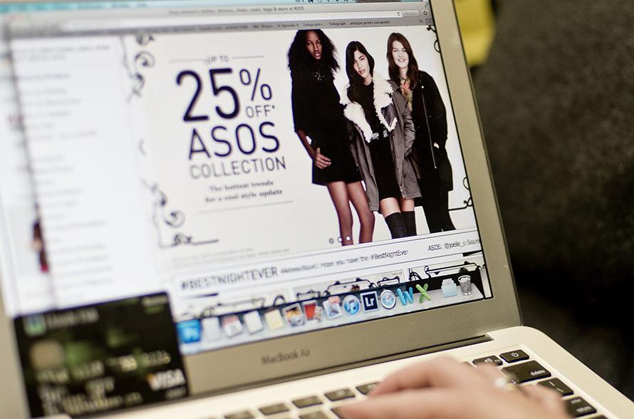 Покупки в интернет-магазине ASOS