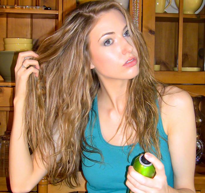 Восстановление поврежденных волос после моря