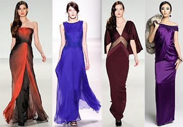 Вечерние платья в пол 2014-2015