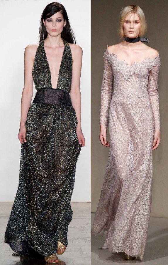 Модные вечерние платья в пол осень-зима 2014-2015