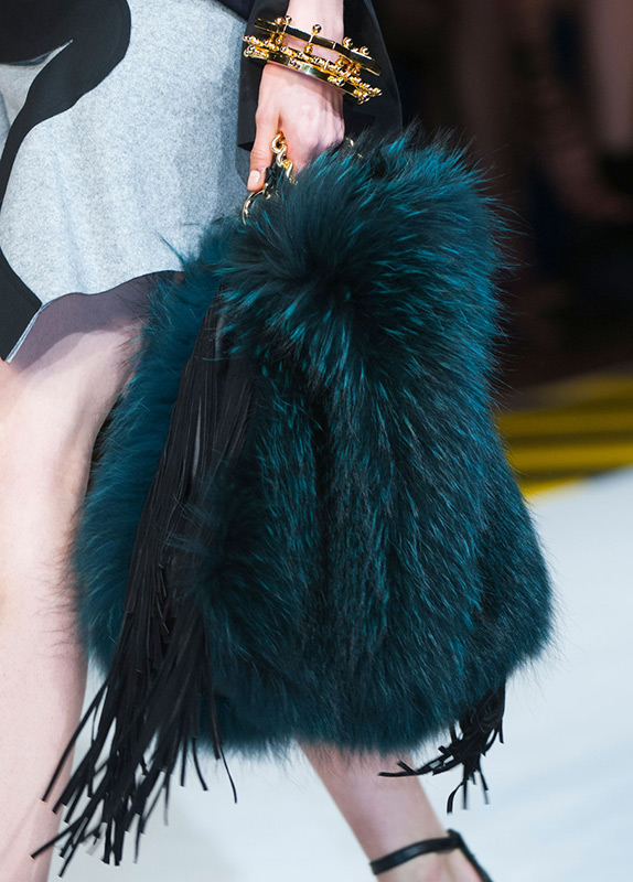 Меховая сумка осень-зима 2014-2015