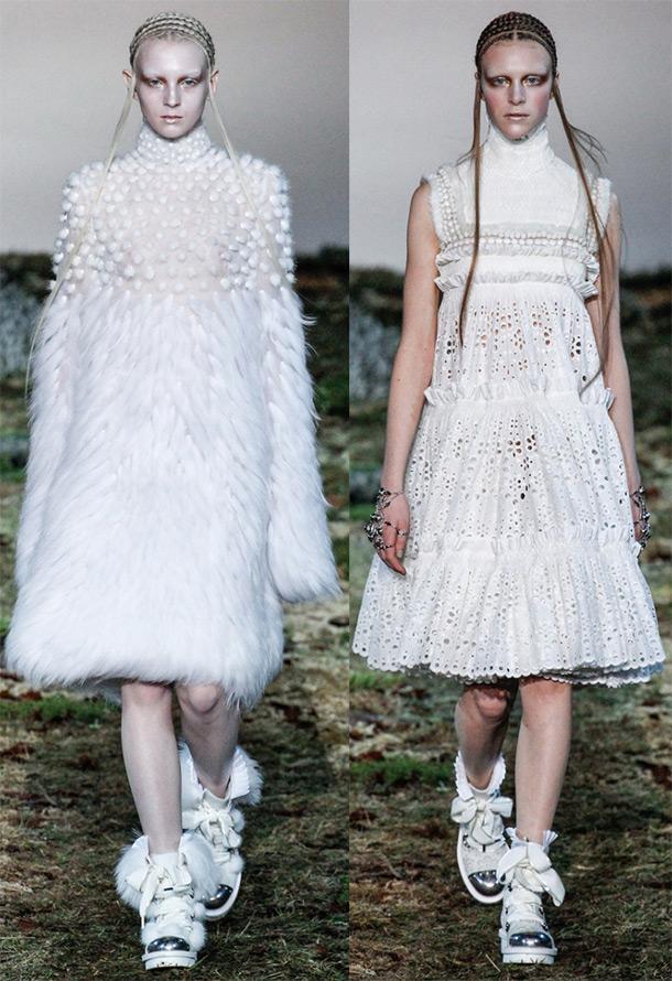Модные белые платья осень-зима 2014-2015