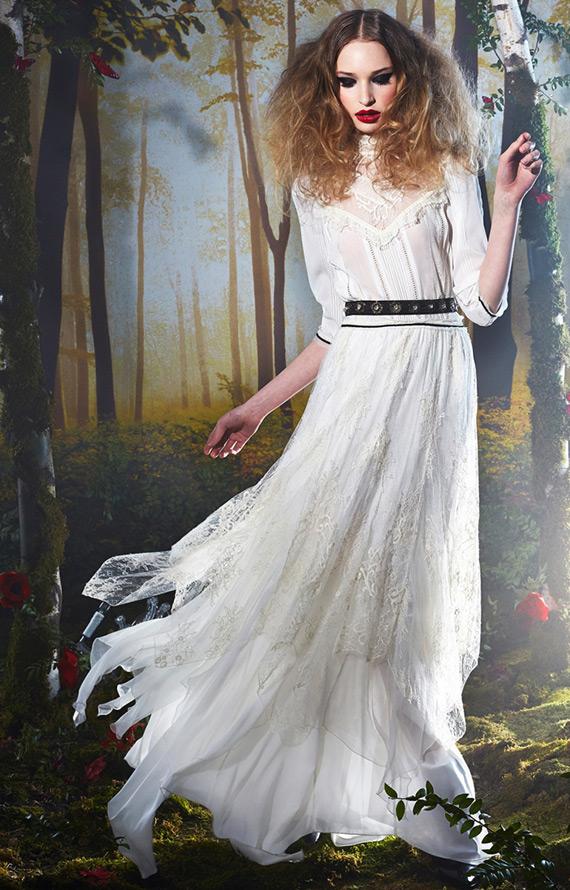 Белое платье Alice Olivia