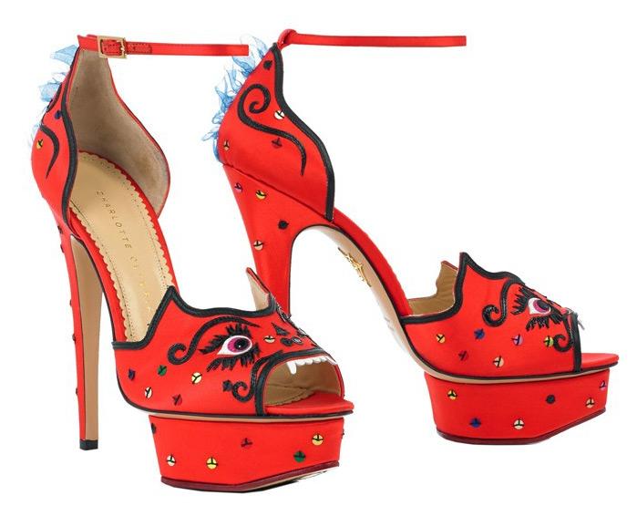 Красные босоножки Сharlotte Оlympia